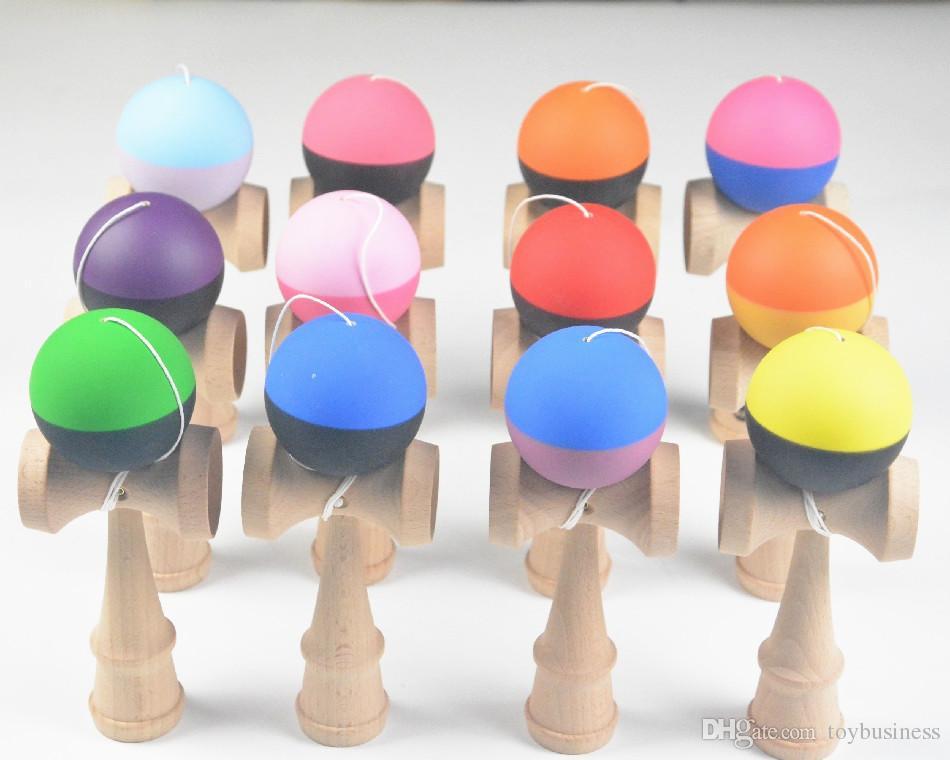 5 Kendama 12 18 De Madera Juguetes Cm Nuevos Juguete Tradicionales Bola Flexible Habilidades Pintura Color Goma Juego CBdxroe