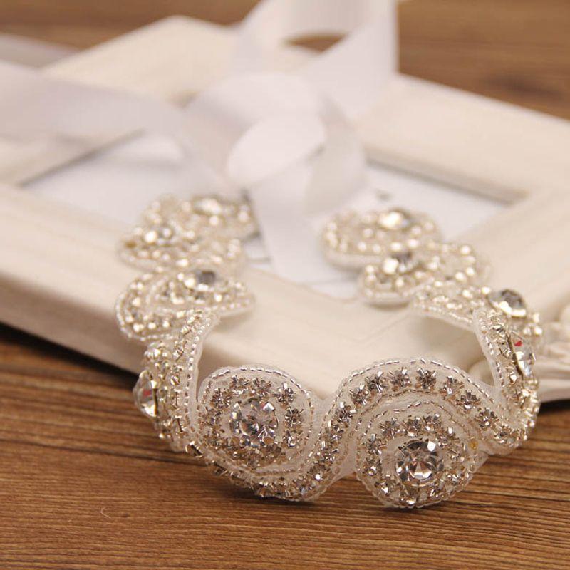 2015 HOT girls Wedding Rhinestone Headbands Cheap Crystal Tiaras Flower Accessories Handmade Hair band MOQ:SVS0191#