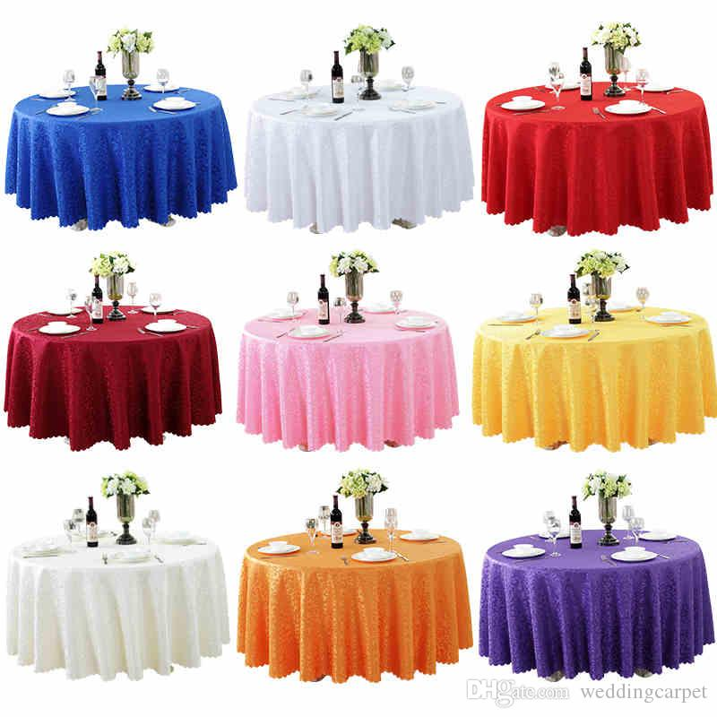225 & Luxurious Round Table Cover Round Jacquard Damask Table Cloth Hotel Wedding Tablecloth Machine Washable Fabric Cloth Table