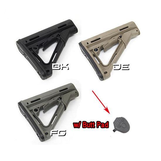 Tactical Compact Type Buttstock para AR15 / M16 Carbines usando la versión PTS en la caja BK / DE / FG