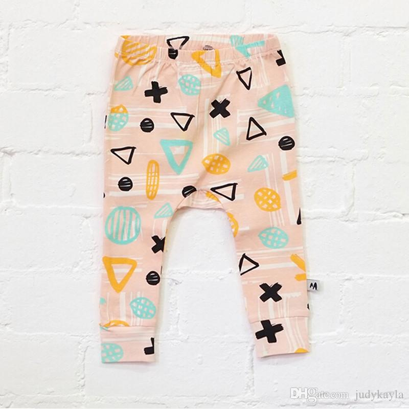 Дети повседневные брюки 2016 весна новое прибытие детские брюки Harlan чистый хлопок одежда для детей цвет случайные Fit 0-4Age 80-110 8 шт. / лот T1788