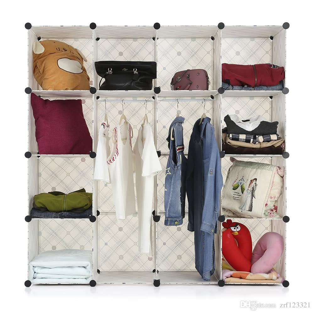 Großhandel Ikayaa Große Mode Multi Use Kleidung Schrank Schrank ...