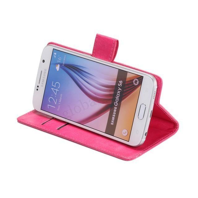 Porte-monnaie universelle PU cuir flip couverture de cas pour 3,8 4,0 4,3 4,8 5 5,5 6,3 pouces pour téléphone mobile iPhone Samsung