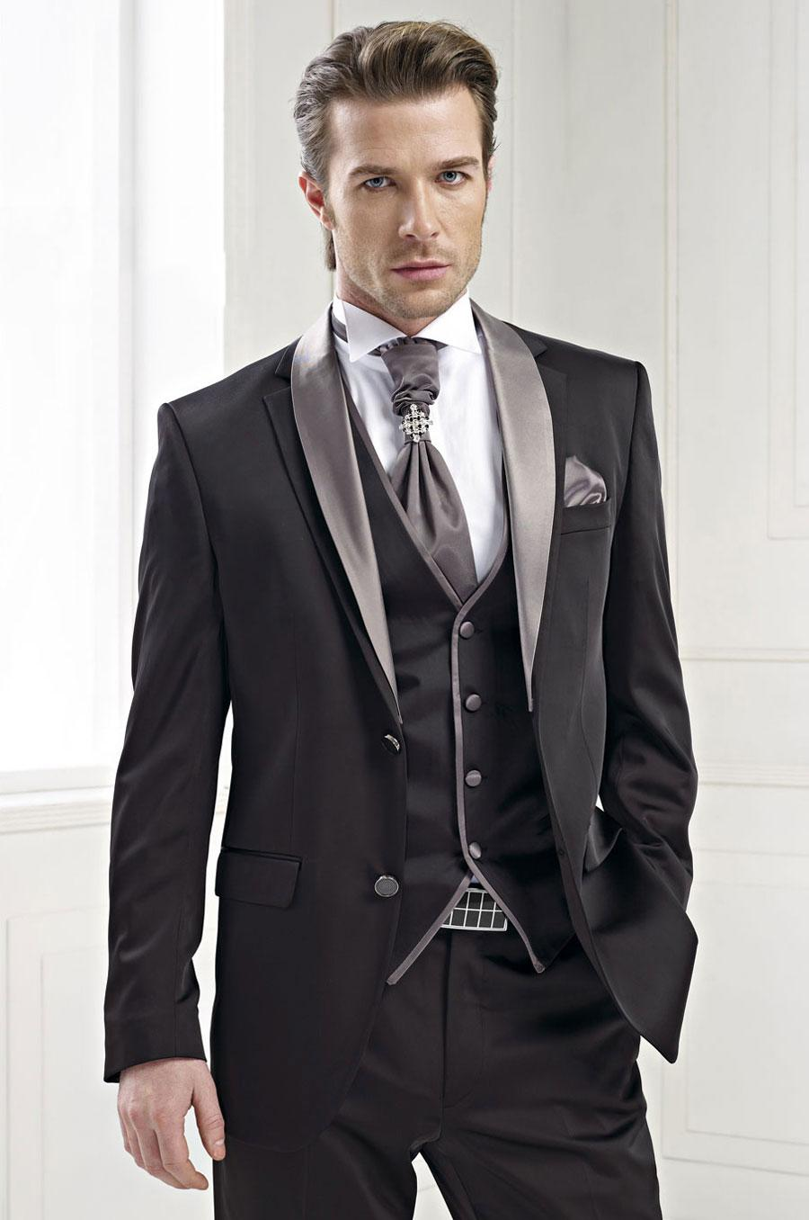 Men Suits 2015 Black Wedding Suits For Men Shawl Lapel Tuxedos ...