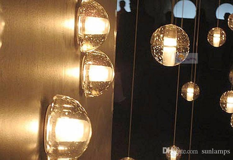 bathroom modern led crystal lighting crystal bubble Wall Lamp sconce home idoor Wall Light Crystal ball Led Lamp bar coffee light