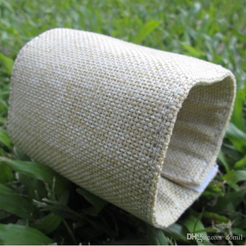 Envoltura de botella de arpillera Al por mayor Espacios en blanco Yute Can Cooler regalo para la decoración de bodas con envío gratis DOM106111