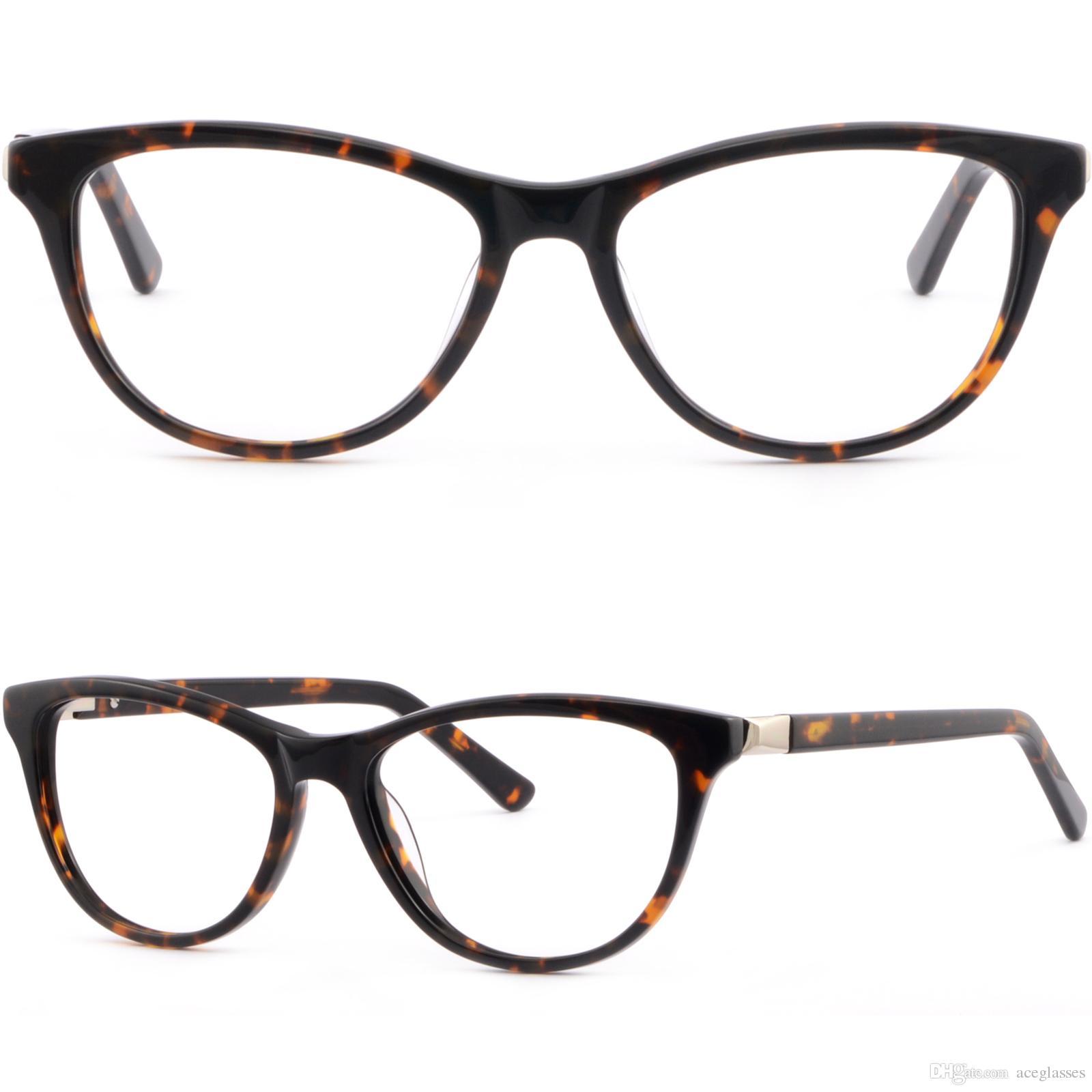 5b0390103da Full Rim Womens Cateye Cat Eye Acetate Plastic Frame Spring Hinges  Tortoiseshell Big Eyeglasses Frames Black Eyeglasses Frames From  Aceglasses