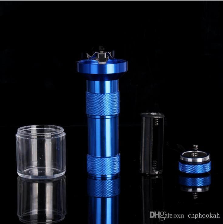 Aluminiumlegierung Metall Elektrische TABAK SCHLEIFER Kreative Taschenlampe Gebrochen Tabak Rauchen Zubehör für Manuelle