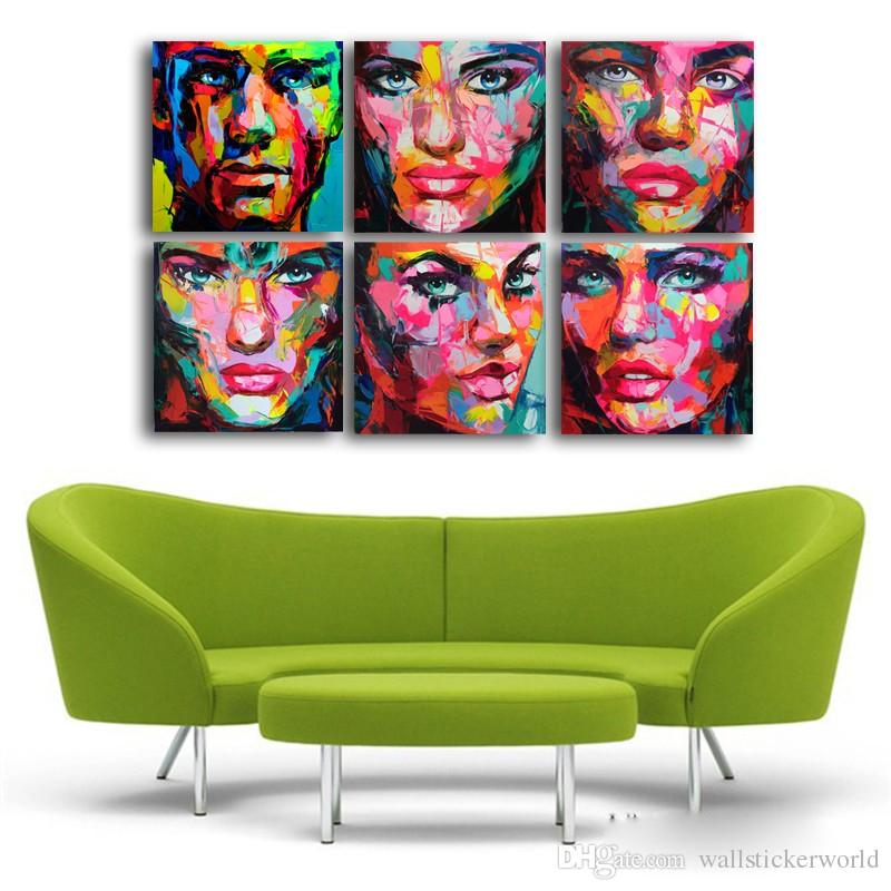 Francoise Nielly Palette Wall Art Picture Modular pictures Canvas Print Wall Pictures Living Room Cuadros Decoracion No Framed