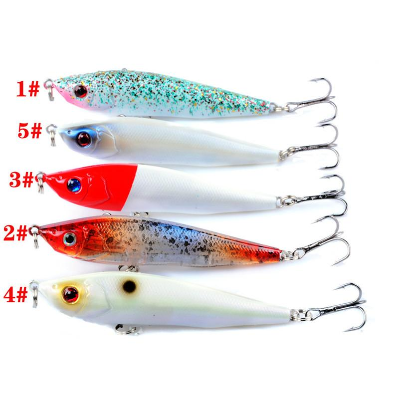 Throwing Flutter casting Minnow bait Hooks 9cm 7g 3D Eyes Shallow Diving Plastic Artificial lures for sea bass fishing