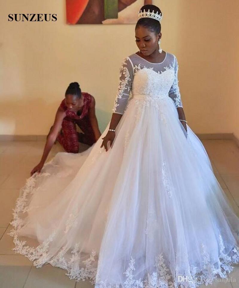compre vestido de novia vestido de novia cuello escarpado mangas