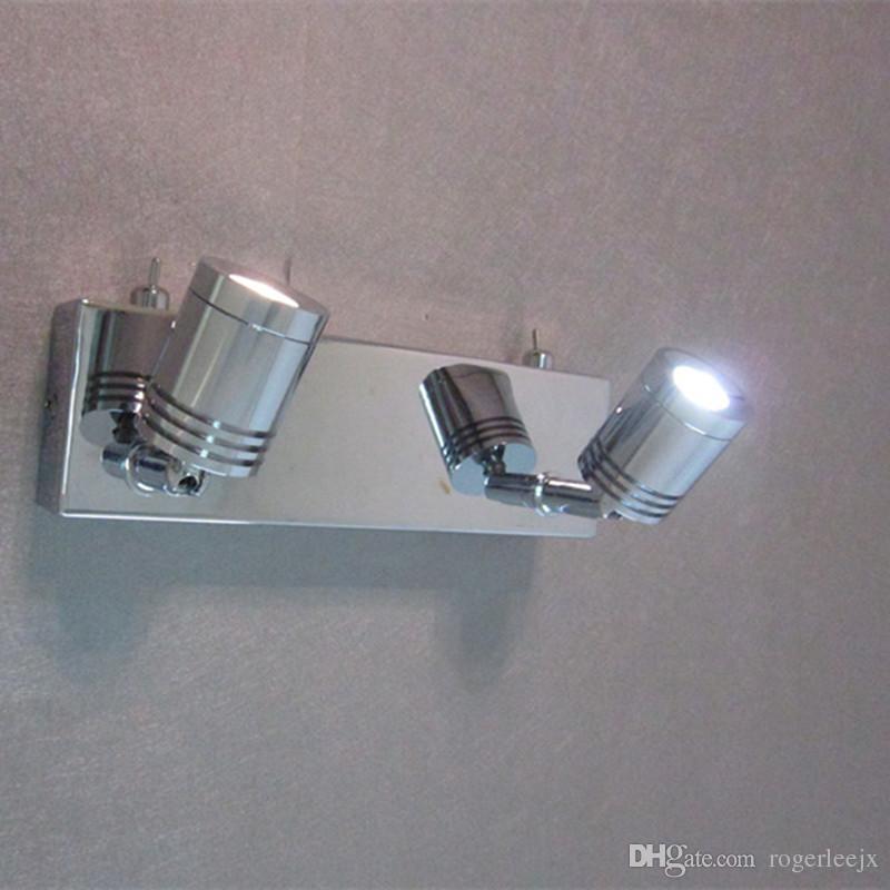 Topoch Wall Light Over Bed con doppio interruttore Finitura cromata 2x3Watt LED di lavoro indipendente regolabile testa stretta fascio la lettura