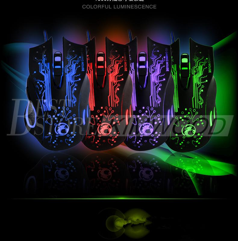 Ratón profesional para juegos 2400 DPI 6 botones Ratones ópticos USB con cable 7D LED para computadora persa Nuevo modelo de diseño X9