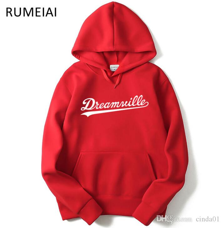 Homens Dreamville J. Cole Moletons Com Capuz Primavera Outono Hoodies Hip Hop Pullovers Casual Tops Roupas