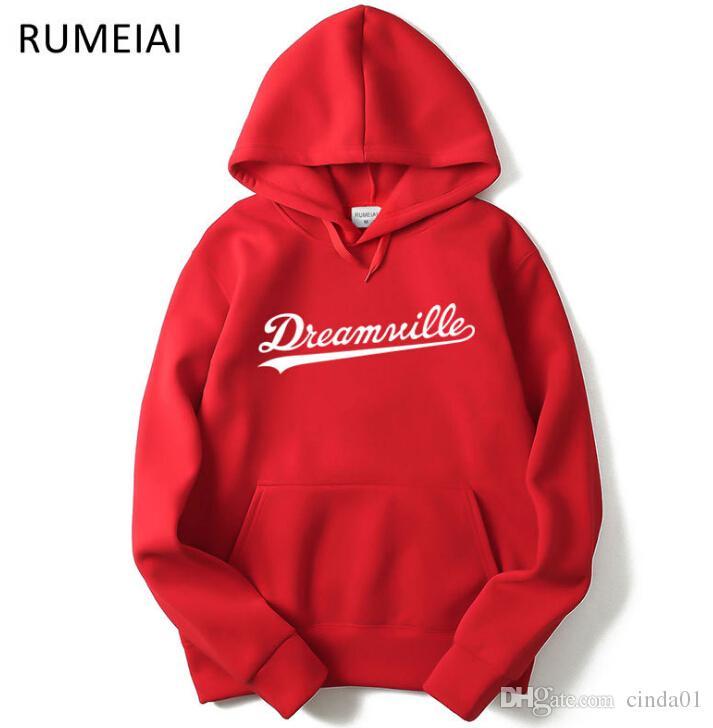 Uomo Dreamville J. COLE Felpe Felpe con cappuccio autunno primaverile con cappuccio Hip Hop Casual Pullover Tops Clothing