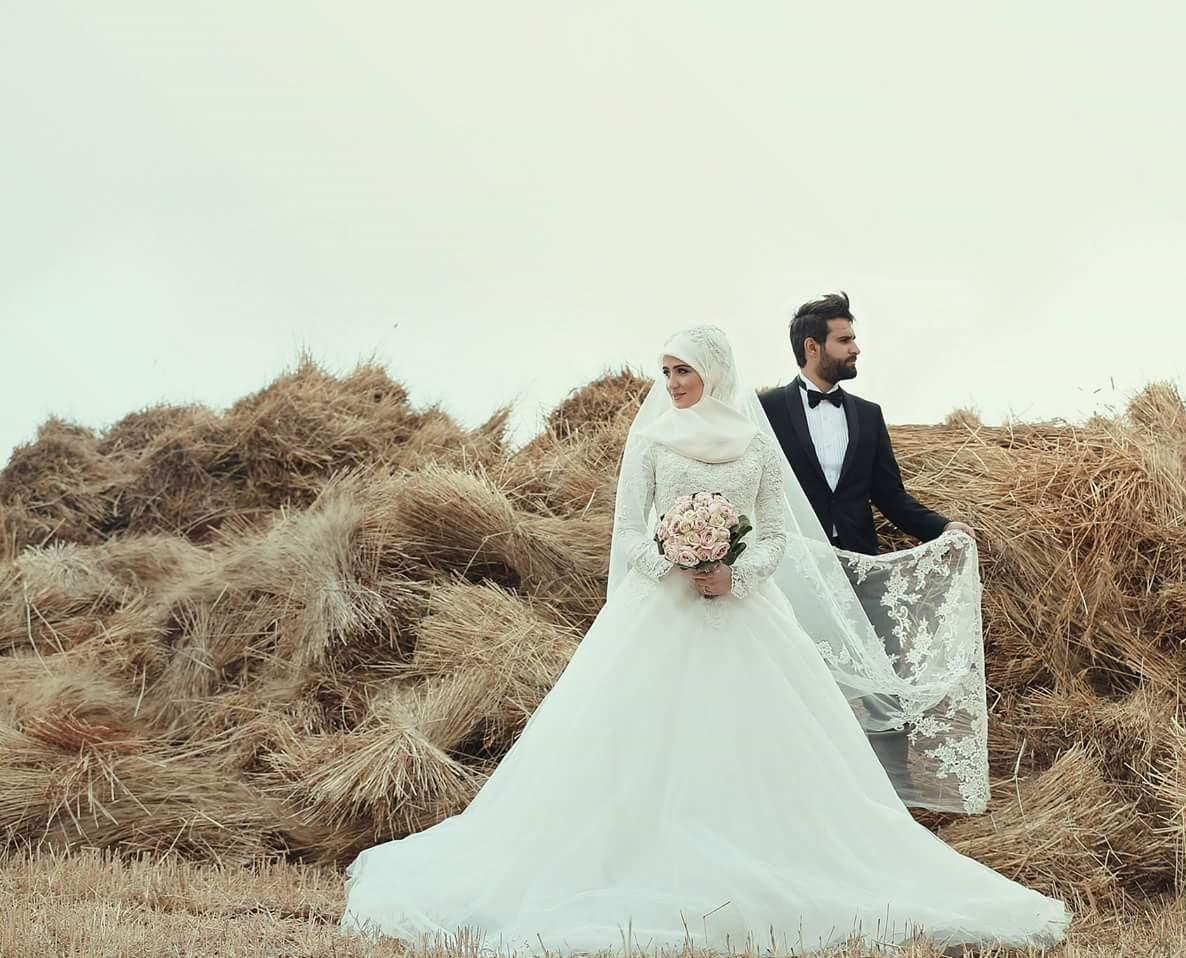 2015 Arabic Islamic Muslim A Line Wedding Dresses Said Mhamad Lace Winter Bridal Gowns Long Sleeves High Neck Midwest Pakistani Abaya 2016