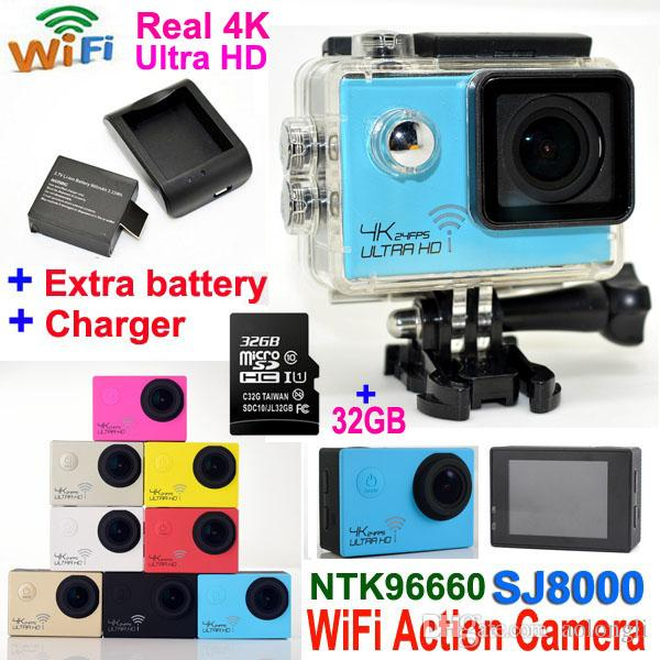 Freies Verschiffen! Extra 1 Stücke Batterie Ursprüngliche Sjcam Sj5000x Elite Wifi 4 Karat 24fps Helm Gyro Sport Action Kamera Ladegerät