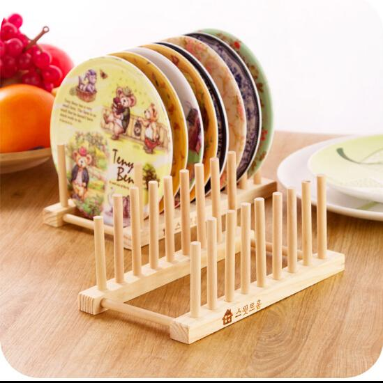 New Wood Kitchen Storage Rack Kitchen Utensils Dish Rack - New kitchen accessories