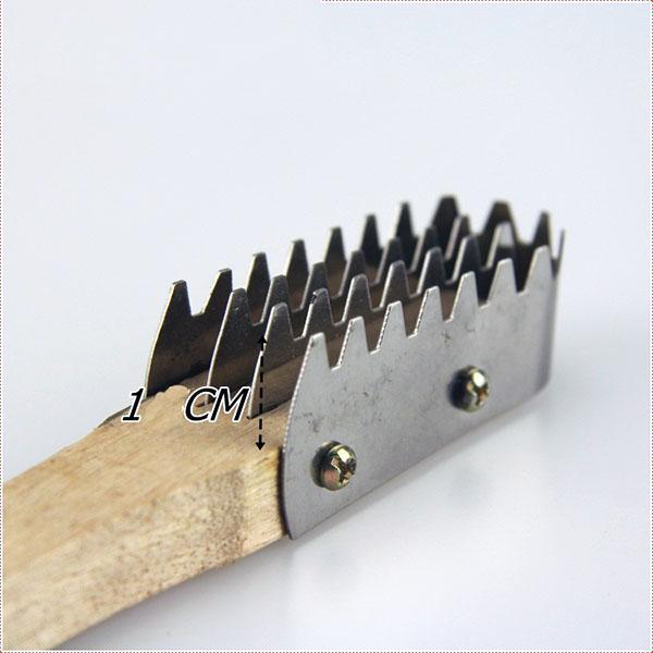 raspador de escamas de pescado cuchillo de limpieza rápida Mango de madera inoxidable metal piel de pescado removedor plata escalador práctica máquina de afeitar de cocina