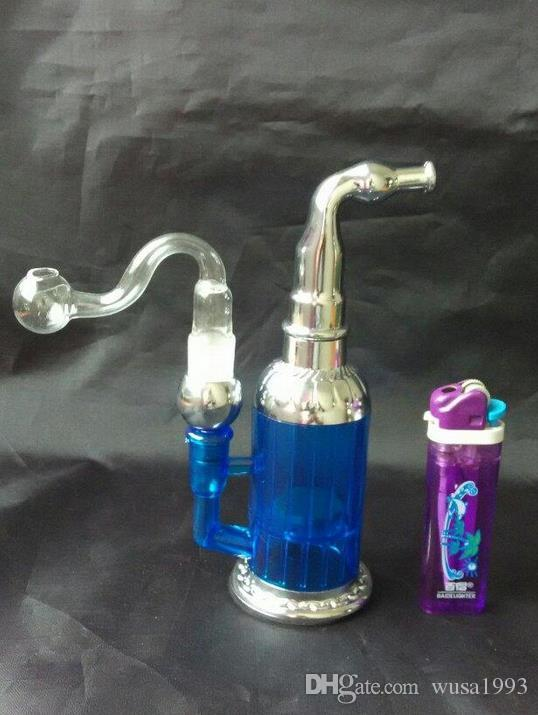 wholesale 2015 new Acrylic water filter hookah / bong, pipe / tobacco dual-use, giving 14 # glass S pot, color random deli