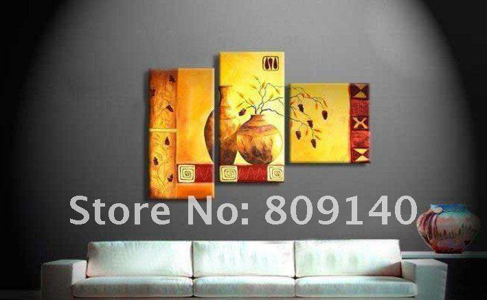 Kitchen Dining Room Still Life Oil Painting Canvas Yellow Artwork ...