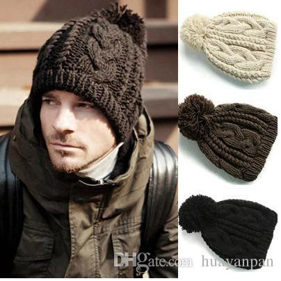 2015 Hot Men Winter Hat Women Knitted Hat Fashion Winter Warm Cap  Multicolor Straw Hat Baseball Cap From Bestdeal888 3097c7fbf23