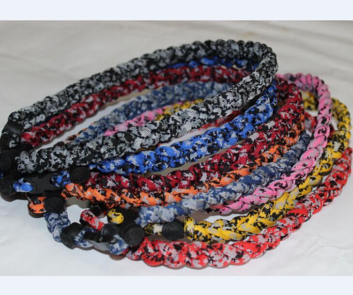 Продажа 3 веревка Титана Спорт ожерелье цифровой камуфляж Торнадо Бейсбол плетеный ожерелье размер 16