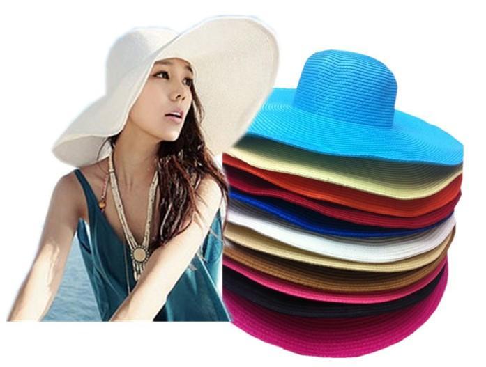 Beautiful Ladies Hats 2015 New Summer Beach Caps Wide Brim ... - photo#8