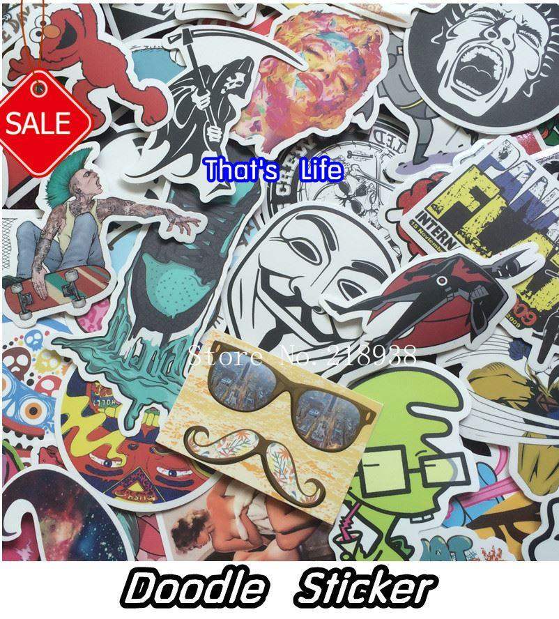 New style vinyl stickers for car sticker decal bicycle laptop sticker on car styling sticker bomb doodle motorcycle accessories accessories tutorial