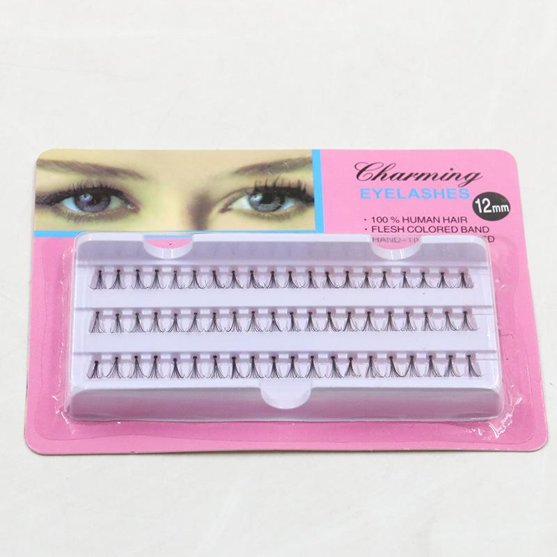 False Eyelashes 12mm Individual Lashes Extensions Special Gorgeous Charming Eyelash Handmade Hair Feathered Fake Eyelashes Factory Free DHL