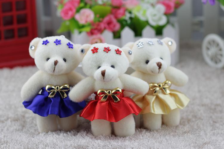 2018 12 Cm Teddy Bear Flowers Gift Doll Bouquet,Holding Flowers Gift ...