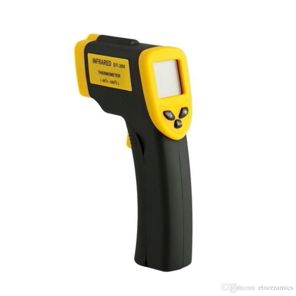 ハンドヘルドノンコンタクトIRレーザー赤外線デジタル温度計DT380 -50-380 C GT Fedal Express DHL無料の速い出荷