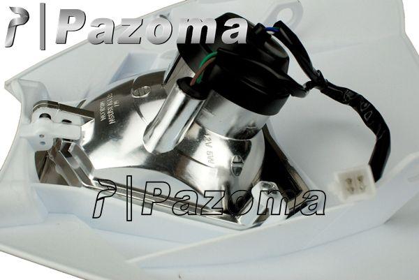 PAZOMA Motorcycle Headlight White Head Lamp Dirtbike Motocross OFF ROAD Universal Headlights ENDURO ROAD LEGAL RMZ R