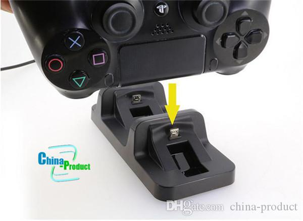 DOBE USB Dual Charger batteries rechargeable Dock Station for PS4 Wireless Controller For PlayStation Charger Dock 010205