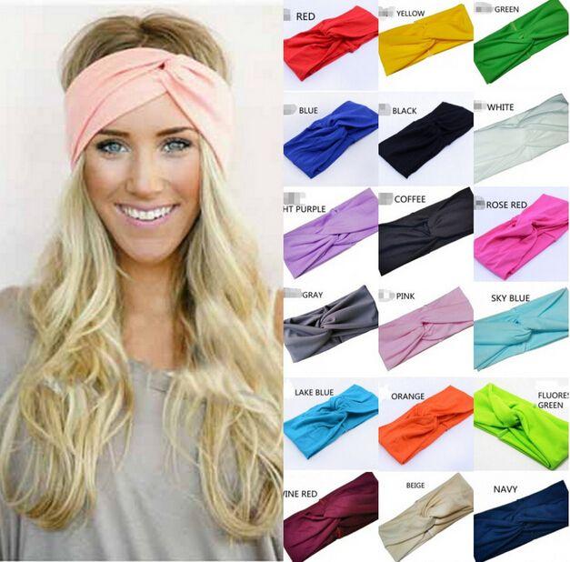 Fashion Candy Colors Twist Sport Yoga Headband Bandana Hijab Turban  Headscarf Wrap Women Cross Head Scarf Turban Hair Accessories Free DHL UK  2019 From ... 056755cc396