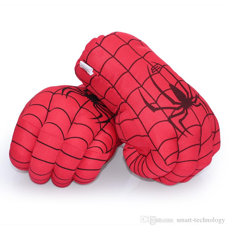 Невероятный Халк Человек-паук Удара перчатки 30см Superhero Рисунок Игрушки Дети Дети Рождество игрушки