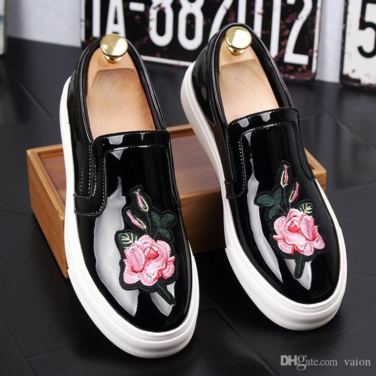 winter stree fashion men high top Flower snake shoes Hip hop trend skateboard dance Sport shoes for male man AA532