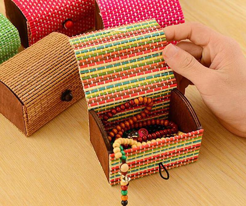 Criativo De Bambu Caixas De Armazenamento De Madeira De Alta Capacidade Caso Bonito Organizador De Armazenamento De Caixa De Jóias Por Atacado DHL FEDEX Frete Grátis