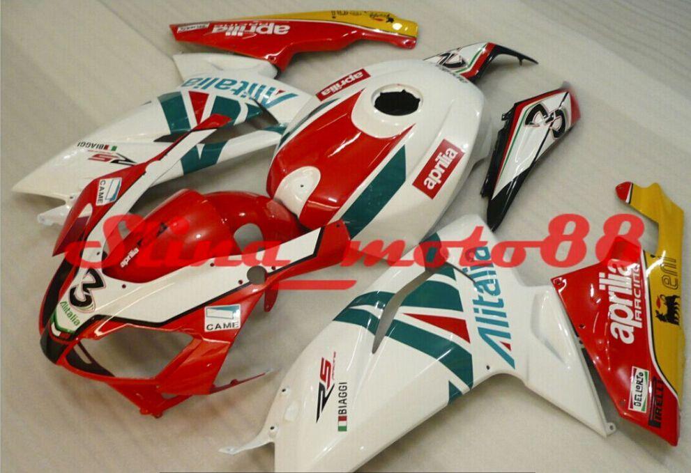 Personalizza kit carena moto Aprilia RS125 2006-2011 rosso bianco verde Carenature RS 125 06 07 08 09 10 11