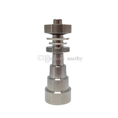 10mm 14mm 18mm Regolabile GR2 Domeless titanio nail grade 2 titanio chiodo vetro bong narghilè tubo dell'acqua tubi fumo bong