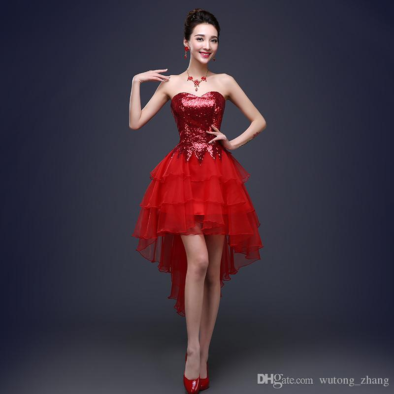 Nouvelle robe de soirée princesse robe élégante robe de mariée sexy frontale arrière arrière arrière arrière ballon de bal de bal de bal de bal cooming / graduation robe formelle
