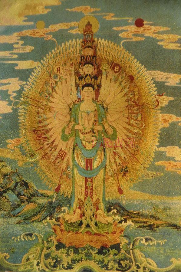 Buddha Tapestry Wall Hangings tibetan buddhist / tapestry / thangka / thousand bodhisattva