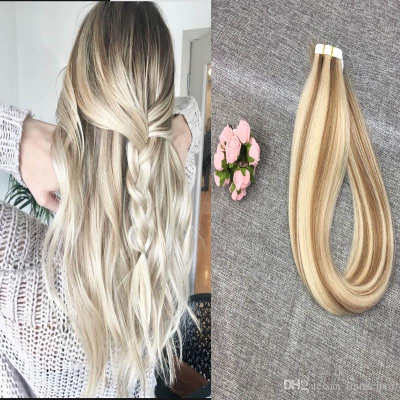 Tape In Human Hair Extensions Real Human Hair Extension Silky