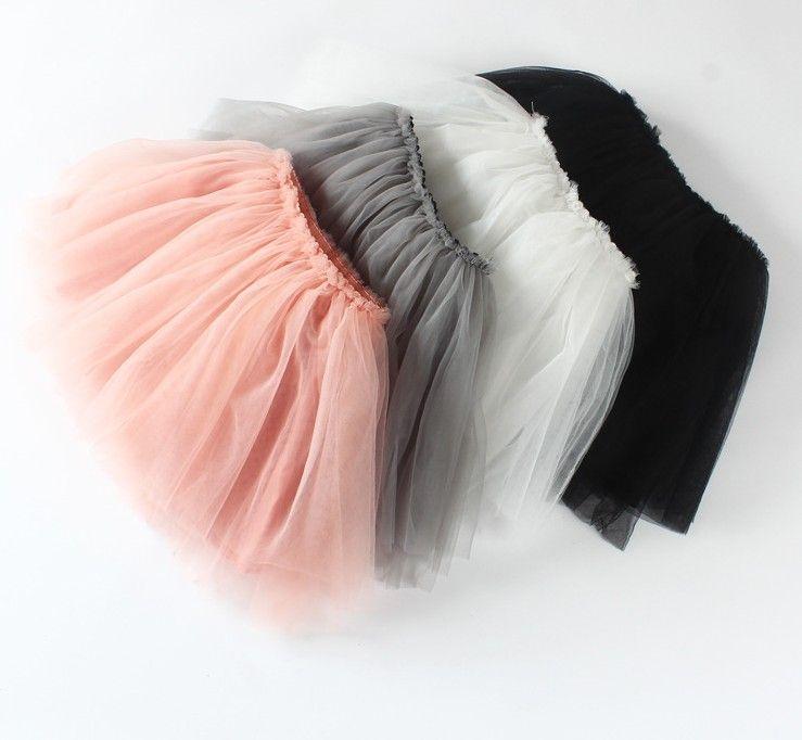 Autumn Top Quality candy color kids tutus skirt dance dresses soft tutu dress 3layers children skirt clothes skirt princess