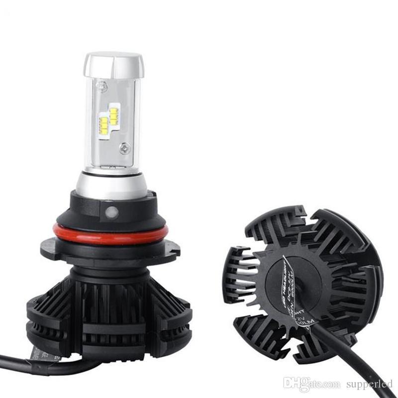 H13 X3 Car LED Headlights H1 H3 H4 H7 H8 9005 9006 Bulbs 50W 6000LM Chips CSP LED Headlamp car headlight bulbs
