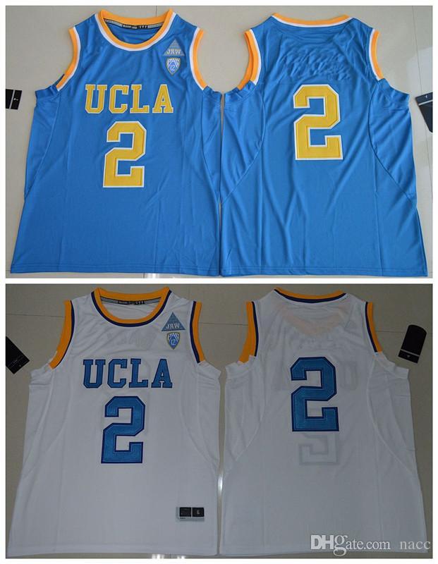 size 40 5678e 1d839 NCAA 2017 UCLA Bruins Lonzo Ball 2 College Basket Authentic Jersey Blu -  Bianco Taglia S M L XL XXL