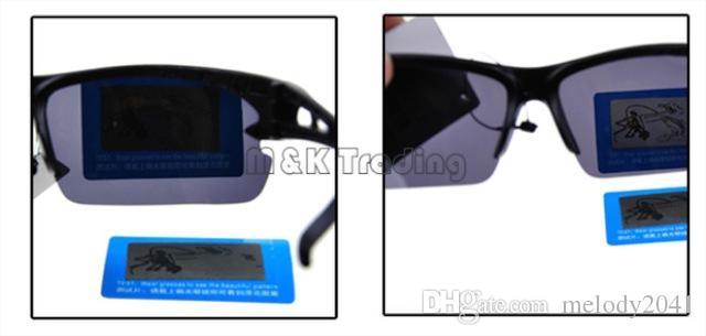 Remessa grátis Óculos de sol polarizados para homens metade quadro plástico sol óculos Mens Sports Eyewear UV400