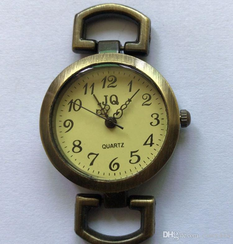 Vintage Antique Bronze Roman Watch Face Alloy Flat Round Watch Head Watch Accessory
