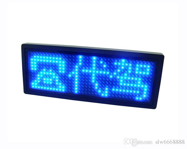 Alta calidad Semi-al aire libre 12 * 36 puntos publicidad Taxi LED insignia del nombre Red Scrolling Screen Badge Tarjeta de visita Etiqueta de la muestra Muestra