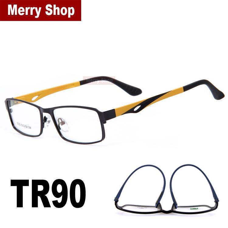 2018 2015 New Fashion Men Eyeglasses Frames Alloy Frame Tr90 High ...